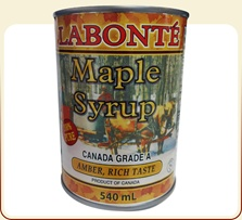 Maple syrup amber rich taste